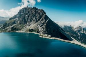 Europe, Austria, Vorarlberg, Alps, Eastern Alps, Lünersee, Douglasshütte, Lünerseebahn, mountain station, Rätikon,