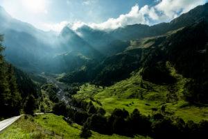 Europe, Austria, Vorarlberg, Rätikon Alps, Eastern Alps, Schattenlagantstrasse,