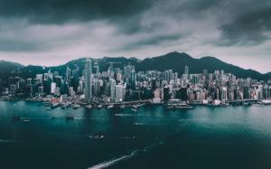Asia, China, Hong Kong, Hong Kong Island, Victoria Harbor, Victoria Peak,