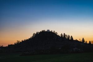 Salmendinger Kapelle, Sonnenuntergang, Kornbühl, Burladingen, Baden-Württemberg, Deutschland, Europa