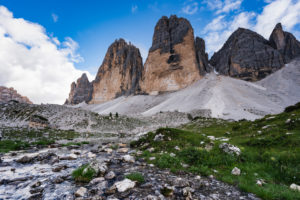 Three Peaks, Tre Cime Di Lavaredo, sunrise, Dolomites, South Tyrol, Italy, Europe