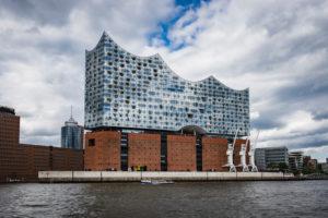 Elbphilharmonie, Elphi, Hamburg Germany, architecture, Norderelbe view