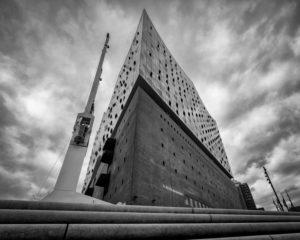 Elbphilharmonie, Elphi, Hamburg Germany, Architecture, Perspective, Black and White