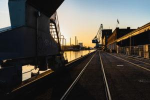 Hafen, Rheinhafen, Karlsruhe, Baden-Württemberg, Deutschland, Europa