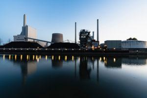 Kraftwerk, Rheinhafen-Dampfkraftwerk, Karlsruhe, Baden-Württemberg, Deutschland, Europa