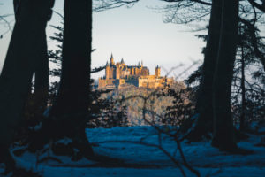 Hohenzollern Castle, Nebel, Bisingen, Baden-Wuerttemberg, Germany, Europe