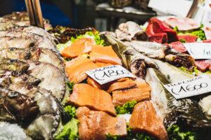 Fish market, Venice, historic center, Veneto, Italy, northern Italy, Europe