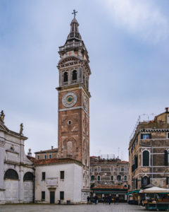 Church tower, Venice, historical center, Veneto, Italy, northern Italy, Europe