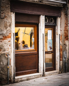 Barber shop, Venice, historical center, Veneto, Italy, Northern Italy, Europe