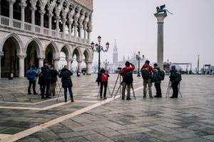 Fotografen, Markusplatz, Venedig, historisches Zentrum, Venetien, Italien, Norditalien, Europa