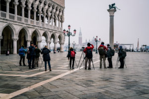 Photographers, St. Mark's Square, Venice, historic center, Veneto, Italy, northern Italy, Europe