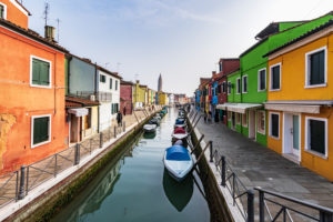 Burano, Venice, Island, Veneto, Italy, Northern Italy, colorful fishermen's houses, Europe