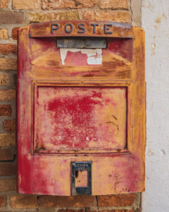 Old Italian post box Burano, Venice, Island, Veneto, Italy, Northern Italy, Europe