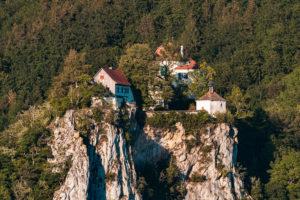 Schloss Bronnen, Burg Bronnen, Fridingen, Oberes Donautal, Schwäbische Alb, Landkreis Tuttlingen, Baden-Württemberg, Deutschland, Europa