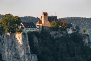 Schloss Werenwag, Oberes Donautal, Schwäbische Alb, Langenbrunn, Beuron, Landkreis Sigmaringen, Baden-Württemberg, Deutschland, Europa