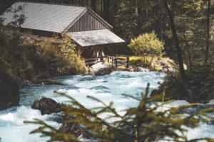 Mühle am Gollinger Wasserfall, Schwarzbachfall, Schwarzenbachfall, Tennengau, Österreich, Europa