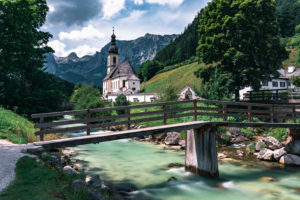 Malerwinkel, Ramsau, Catholic Church St. Sebastian, Berchtesgaden, Berchtesgadener Land, Bayer, Germany, Europe