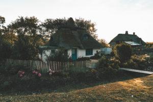 Altes Haus mit Reetdach, Westerhever, Nordsee, Schleswig-Holstein, Deutschland, Europa