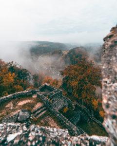 Ruine, Burg Gundelfingen, Lautertal, Große Lauter, Schwäbische Alb, Gundelfingen, Baden-Württemberg, Deutschland, Europa