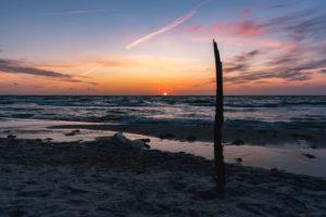 Weststrand, Ostsee, Fischland, Darß, Zingst,  Sonnenuntergang, Ostseeküste, Deutschland, Europa