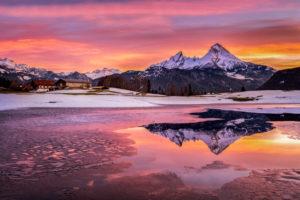Sonnenaufgang am Watzmann,