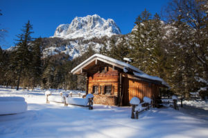 Winter dream in Bavaria, Holzstadl
