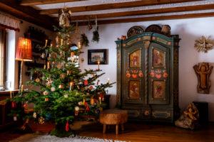 Weihnachten wie in alten Zeiten, idyllische Stube