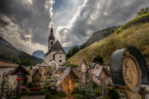 Mountaineers' cemetery in Ramsau, Bavaria, Germany, Berchtesgadener Land,