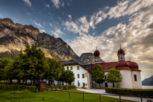 Germany, Bavaria, Berchtesgadener Land, Berchtesgaden, Schönau am Königssee, church St. Bartholomä,