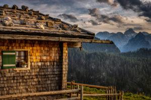 Deutschland, Bayern, Berchtesgaden, Berchtesgadener Alpen, Berge, Alpen, Almhütte, Landschaft, Sommer, Gebirge, Watzmann, Wolken,