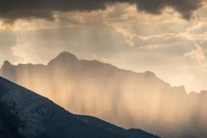 Gewitter in den Bergen, Berchtesgaden, Berchtesgadener Land, Oberbayern, Bayern,  Deutschland, Alpen, Berge, Berchtesgadener Berge,
