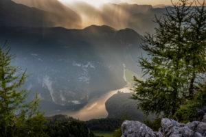 Blick vom Jenner auf den Königssee, Gewitter in den Bergen, Berchtesgaden, Berchtesgadener Land, Oberbayern, Bayern,  Deutschland,