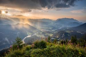 Gipfelblick vom Jenner , Berchtesgaden, Berchtesgadener Land, Oberbayern, Bayern,  Deutschland, Alpen, Berge, Berchtesgadener Berge,