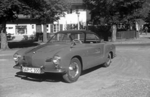 A Volkswagen Karmann Ghia Type 14, Germany 1950s.
