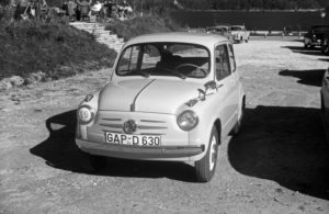 A tiny Fiat 600, Germany 1950s.