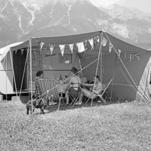 At the camping site, Germany 1958