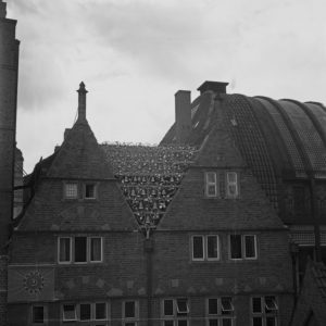 Glockenspiel carillon house at Bremen, Germany 1930s.