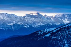 Germany, Bavaria, Bavarian alps, Walchensee, evening mood about the Karwendel