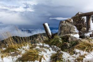 Deutschland, Bayern, Bayerische Alpen, Garmisch-Partenkirchen, Herbst auf der Weilheimer Hütte im Estergebirge