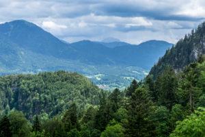 Deutschland, Bayern, Bayerische Alpen, Lenggries, Blick auf die Berge um Lenggries
