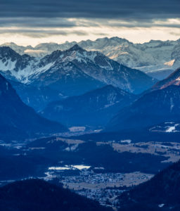 Germany, Bavaria, Bavarian alps, sunrise in the Karwendel
