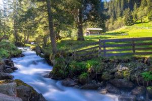 Österreich, Tirol, Grinzens, Senderstal, Sendersbach im Senderstal auf dem Weg zur Kemater Alm
