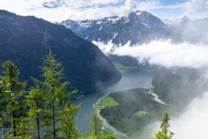 Deutschland, Bayern, Berchtesgadener Land, Berchtesgaden, Blick von der Archenkanzel auf den Königssee