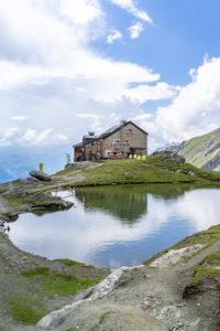 Europe, Austria, Tyrol, East Tyrol, Kals am Großglockner, view of the Sudetendeutsche hut in the Hohe Tauern