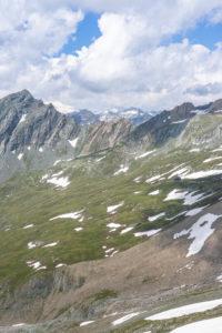 Europa, Österreich, Tirol, Osttirol, Kals am Großglockner, Blick auf die Sudetendeutsche Hütte, den Nussingkogel und Großvenediger im Hintergrund