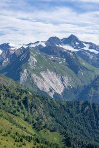 Europa, Österreich, Tirol, Osttirol, Kals am Großglockner, Blick von der Kalser Höhe auf den Großglockner