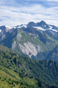 Europe, Austria, Tyrol, East Tyrol, Kals am Großglockner, view from the Kalser Höhe onto the Großglockner