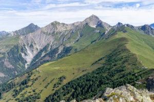 Europe, Austria, Tyrol, East Tyrol, Kals am Großglockner, view of the Kalser Höhe and the surrounding peaks