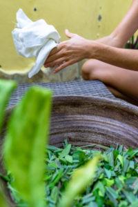 America, Caribbean, Greater Antilles, Dominican Republic, Cabarete, preparing a wellness treatment at the Natura Cabana Boutique Hotel & Spa