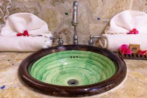 America, Caribbean, Greater Antilles, Dominican Republic, Cabarete, bathroom in the Natura Cabana Boutique Hotel & Spa,